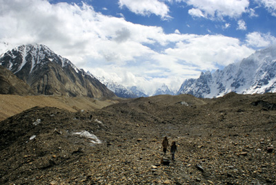 Porters on the Baltoro Glacier